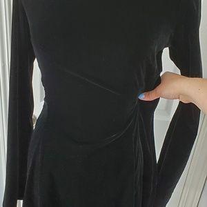 Derek Lam Dresses - Derek Lam 10 Crosby Black Lace Up Velvet Dress